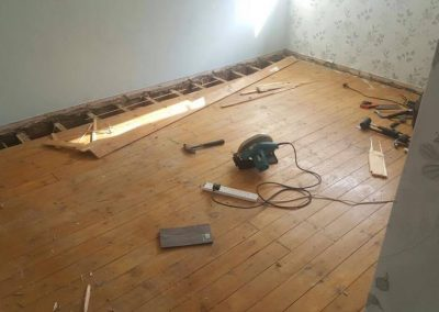 Removing Old Floor-Boards