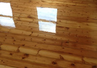 Finish lacquer floorboards 1