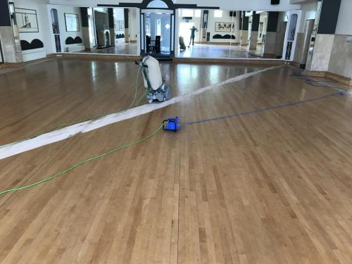 Repair-Sanding dancing hall