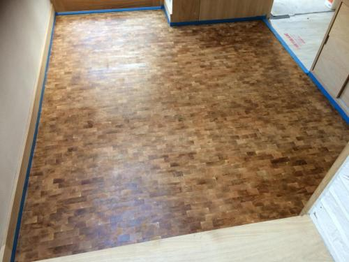 Oak cubes flooring Germany style
