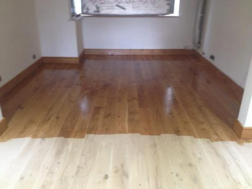 Sanding oak floors